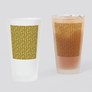 Gold Leaf Draping Curtain Pattern Drinking Glass