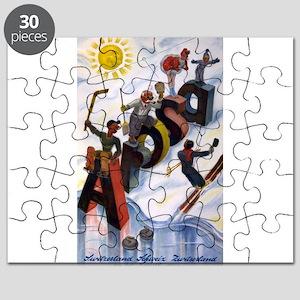 Arosa Switzerland - anon - 1938 - poster Puzzle