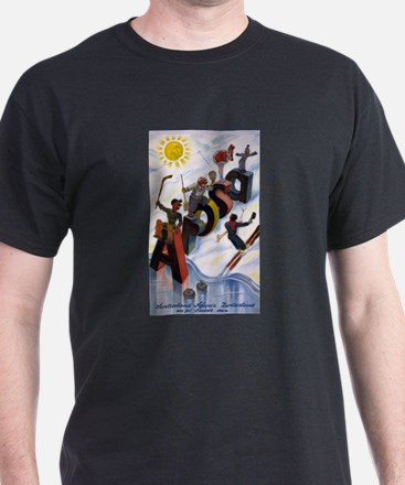Arosa Switzerland - anon - 1938 - poster T-Shirt