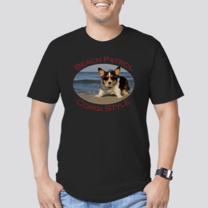 Beach Patrol Corgi Sty Men's Fitted T-Shirt (dark)