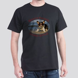 Beach Patrol Corgi Style Dark T-Shirt