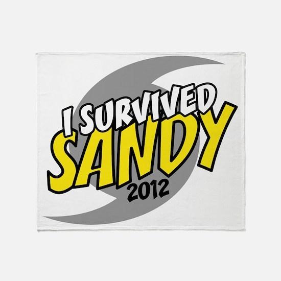 Hurricane Sandy Emergency I Survived Throw Blanket