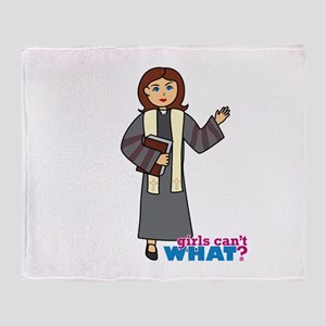 Preacher Woman Throw Blanket
