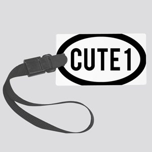 cute1 Large Luggage Tag