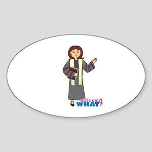 Preacher Woman Sticker (Oval)