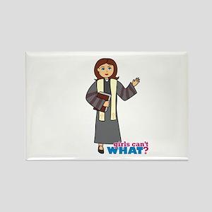 Preacher Woman Rectangle Magnet
