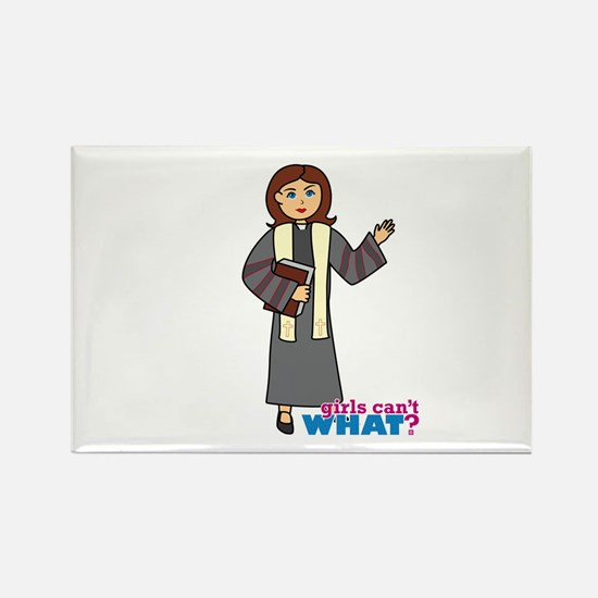 Preacher Woman Rectangle Magnet