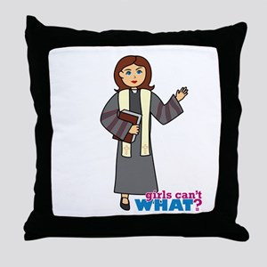 Preacher Woman Throw Pillow