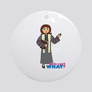 Preacher Woman Ornament (Round)