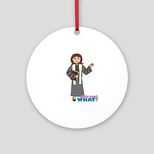 Preacher Woman Ornament (Round)