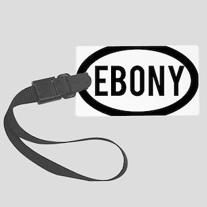 Ebony Large Luggage Tag