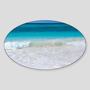 White Sand Beach Sticker (Oval)