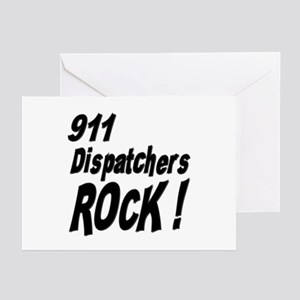 911 Dispatchers Rock ! Greeting Cards (Package of