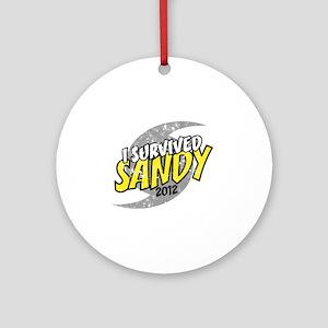 Hurricane Sandy Emergency I Survive Round Ornament