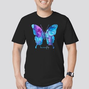 Electric Blue Butterfl Men's Fitted T-Shirt (dark)