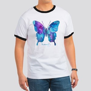 Electric Blue Butterfly Ringer T