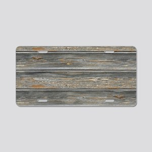Aged, Wooden Aluminum License Plate