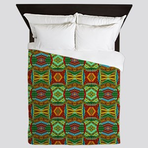Colorful Geometric Ethnic Pattern Queen Duvet