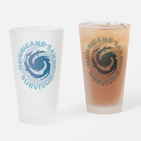 Hurricane Sandy Survivor 2012 Drinking Glass