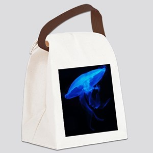 Blue Jelly Fish Canvas Lunch Bag