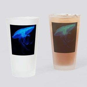 Blue Jelly Fish Drinking Glass