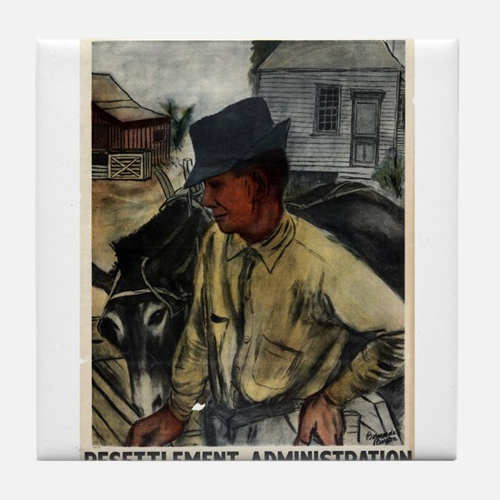 A Mule And A Plow Resettlement Administration - Be