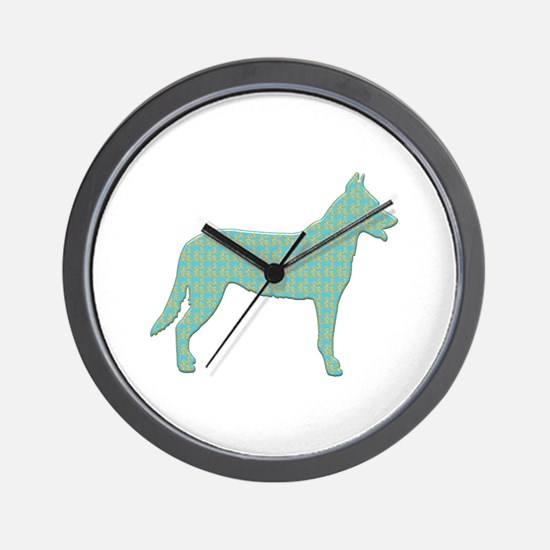 Paisley Beauceron Wall Clock