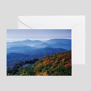 Blueridge Parkway Landscape Greeting Card