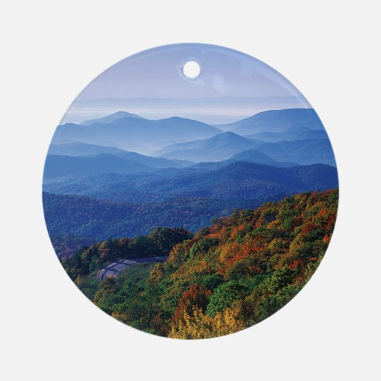Blueridge Parkway Landscape Round Ornament