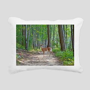 Doe in forest Rectangular Canvas Pillow