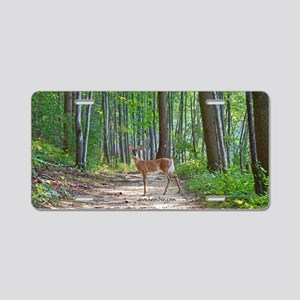 Doe in forest Aluminum License Plate