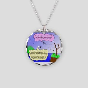 Windy Spider Website Cartoon Necklace Circle Charm