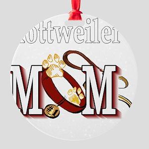 Rottweiler Mom Round Ornament