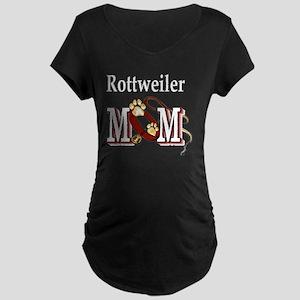 Rottweiler Mom Maternity Dark T-Shirt