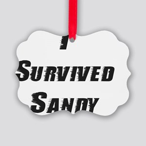 I Survived Sandy Picture Ornament