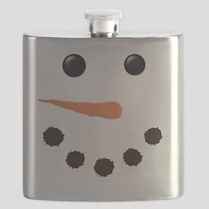Cute Snowman Face Flask