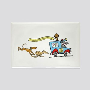 Greyhounds Ice Cream Truck Rectangle Magnet