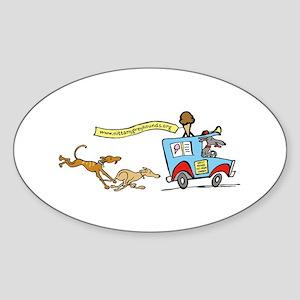 Greyhounds Ice Cream Truck Oval Sticker