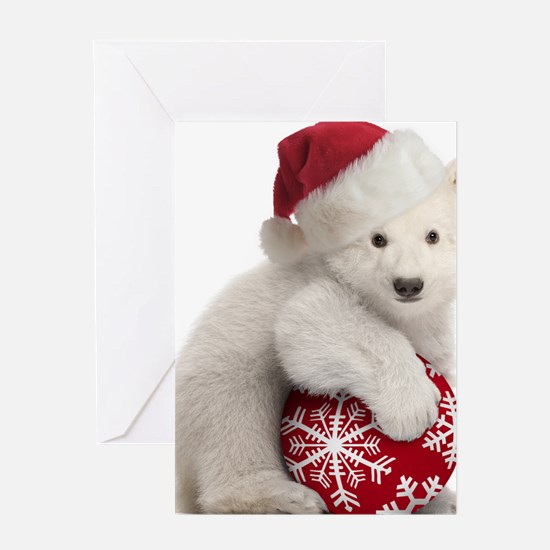 Polar Bear Cub Christmas Greeting Card