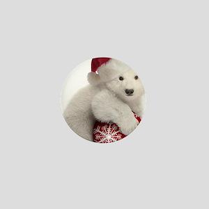 Polar Bear Cub Christmas Mini Button