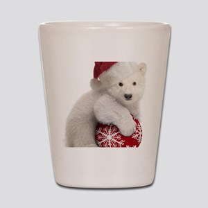Polar Bear Cub Christmas Shot Glass
