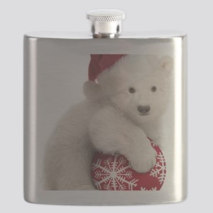 Polar Bear Cub Christmas Flask