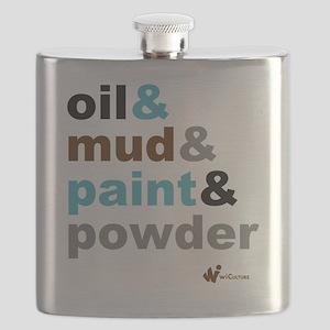 Oil Mud Paint Powder Flask
