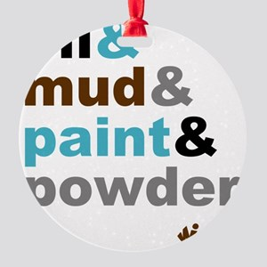 Oil Mud Paint Powder Round Ornament