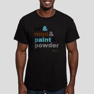 Oil Mud Paint Powder Men's Fitted T-Shirt (dark)