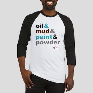 Oil Mud Paint Powder Baseball Jersey