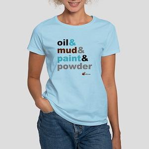 Oil Mud Paint Powder Women's Light T-Shirt
