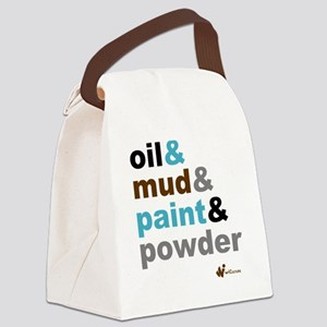Oil Mud Paint Powder Canvas Lunch Bag