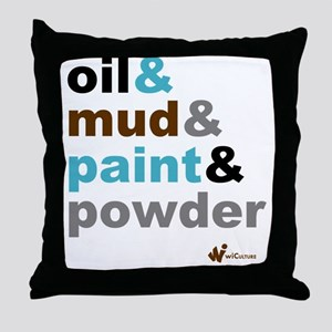 Oil Mud Paint Powder Throw Pillow