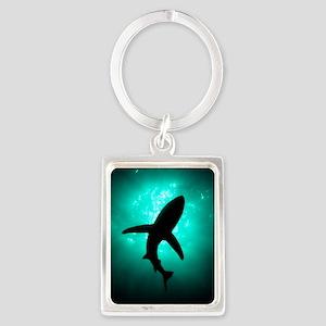 Shark Portrait Keychain